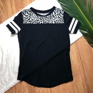 VS Pink Animal Print Athletic T-shirt